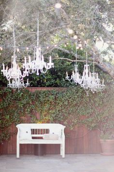 Charming backyard wedding