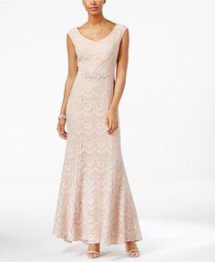 Alex Evenings Lace Mermaid Gown - Dresses - Women - Macy's