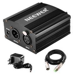 Superisparmio's Post Newer Phantom  Neewer alimentazione Phantom 1 canale da 48 V colore: nero con adattatore e un cavo XLR Audio per tutti i microfoni a condensatore e le apparecchiature di registrazione.  Ancora per poche ore a solo 16.79   http://ift.tt/2tZJbMw