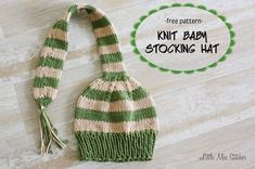Infant Stocking Knit Hat Free pattern!