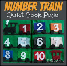 Number Train Quiet Book Page from And Next Comes L