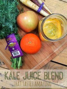 Easy to make kale juice blend that tastes amazing!!