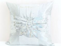 Hey, I found this really awesome Etsy listing at https://www.etsy.com/il-en/listing/216693391/bow-sequin-throw-pillow-shams-18x18