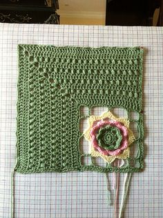 I just think that's so pretty and different. I love crochet the best because you can do all sorts of unusual designs in crochet. --Pia