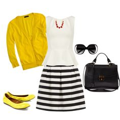"""""""Black, White, Yellow & Red!"""" by jjanstover on Polyvore"""
