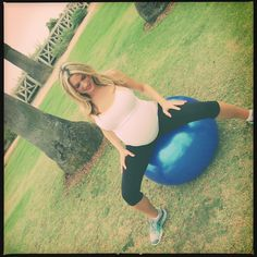 I love my exercise ball! Some things to help get baby in a good position and relive pain in hips/pelvis.