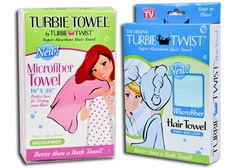Turbie Twist MICROFIBER. I've been using Turbie Twists for years now. Picked up their new Microfiber towel. My hair is almost dry in the time it takes me to get ready after my shower! Every girl should have one of these!