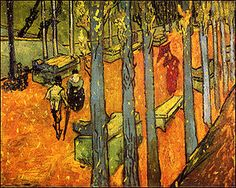 Vincent van Gogh Falling Autumn Leaves  -1888 73 cm × 92 cm (29 in × 36 in)