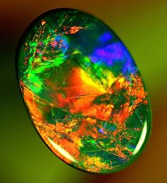 GEM Red Black Opal 3.00ct
