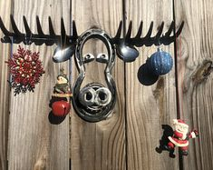 Excited to share this item from my shop: Melvin Moose wall hanging/hook Welding Art Projects, Welding Crafts, Metal Art Projects, Metal Crafts, Diy Welding, Blacksmith Projects, Welding Tools, Woodworking Projects, Horseshoe Projects