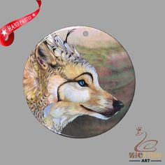 FASHION NECKLACE HAND PAINTED WOLF SHELL PENDANT ZP30 01147 #ZL #PENDANT