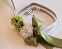 Green wedding dog Leash, Wedding accessory, High quality Leather, Green Wedding accessory, Dog Leash - LA Dog Store  - 1