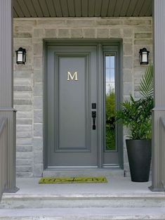 Front Door Paint Colors - Want a quick makeover? Paint your front door a different color. Here a pretty front door color ideas to improve your home's curb appeal and add more style! Entry Door With Sidelights, Front Door Entrance, Exterior Front Doors, House Front Door, Glass Front Door, Front Entrances, House Entrance, Entry Doors, Front Entry