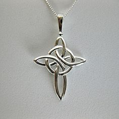 @Overstock - This stylish necklace features a unique Celtic cross design. This handmade necklace features a polished finish and secures with a spring ring clasp.http://www.overstock.com/Worldstock-Fair-Trade/Sterling-Silver-Celtic-Cross-Necklace-Thailand/6237126/product.html?CID=214117 $26.99
