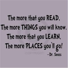 Love Dr. Seuss - great classroom poster