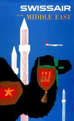 Swiss Air Vintage Travel Posters Art Prints