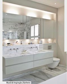 Looking for a new bathroom mirror? We've got lots of beautiful mirror ideas to glam up your bathroom! This will transform your boring mirror into something gorgeous! Bathroom Mirror Lights, Bathroom Mirror Cabinet, Mirror Cabinets, Bathroom Cabinets, Washroom, Mirror With Lights, Bathroom Furniture, Bathroom Storage, White Bathroom
