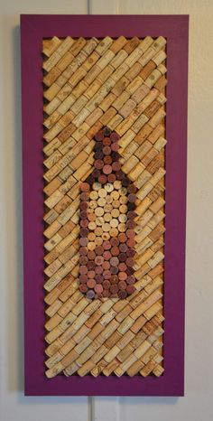 Raspberry Mousse Vibrant Wine Cork Board x Memo Board Kitchen or Home Decor Photo Prop…Gonna have to try and do this Wine Craft, Wine Cork Crafts, Wine Bottle Crafts, Wine Cork Projects, Craft Projects, Diy Cork, Wine Cork Art, Wine Bottle Corks, Deco Originale