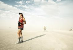 In the moment: Burning Man 2012.  Joyce Pederson.  Photographer: Christopher Michel