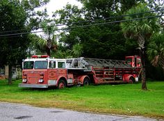 old fire trucks.Miss seeing these ladder trucks