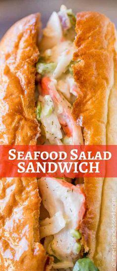 Crab Salad Seafood Salad Sandwich with easy to make Seafood salad!