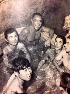 Yukio Mishima (top center) and some members of his Tatenokai Historia Universal, Military Photos, Japanese Men, Photo Journal, Male Physique, Photo Reference, Book Authors, Historical Photos, Erotica