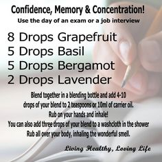 Memory, Confidence, Concentration essential oil blend