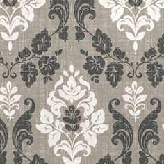 Classic pattern in soft grey tones -perfect look for a period home. Ardwell design.  #home decor #grey #blinds #247