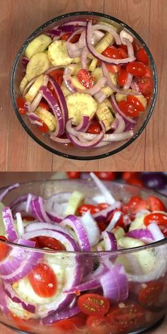 This quick and easy cucumber tomato onion salad recipe is perfect for a Summer salad recipe. You are going to love this Cucumber Tomato Salad recipe. Cucumber Tomato Salad recipe - Easy cucumber tomato on Easy Summer Meals, Healthy Summer Recipes, Summer Salad Recipes, Easy Salad Recipes, Easy Salads, Summer Salads, Veggie Recipes, Cooking Recipes, Crowd Recipes