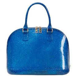 4you2wear Blauwe glitter tas
