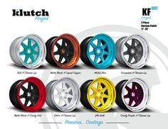 Klutch Forged KF-007 colorways