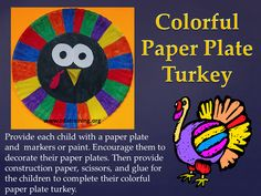 Colorful Paper Plate Turkey