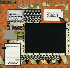 Happy Halloween 12x12 Premade Scrapbook by SusansScrapbookShack