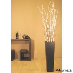 @Overstock - Give your decor an upscale ambiance with this artistic white branches and vase set. The recycled wood floor vase has a bold profile. Against the black vase, the white branches create a striking contrast. Arrange the branches to suit your aesthetic.http://www.overstock.com/Home-Garden/White-Branches-with-Black-Floor-Vase/3524181/product.html?CID=214117 $69.99