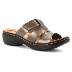 Clarks Women's Hayla Glacier Casual Slide Sandal -- Discover this special product, click the image - Clarks sandals
