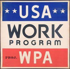 USA WORK PROGRAM, WPA Poster