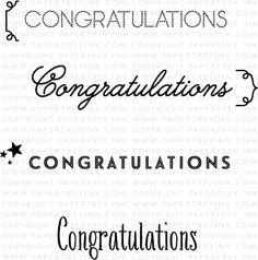 Congratulations Mini Stamp