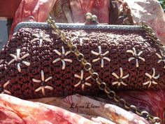 #bolsoboquilla #bolsocrochet #bolsobordado Bolso crochet bordado Manuela