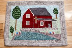Making art with wool. An interactive rug-hooking community. Punch Needle, Rug Hooking, Rugs Online, Small Rugs, Ontario, Kids Rugs, Art, Art Background, Kid Friendly Rugs