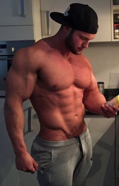 Bald large naughty admirable bodybuilder
