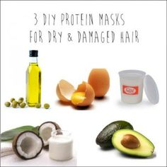 3 DIY Protein Masks for Dry & Damaged Hair