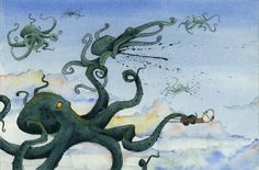 Flying giant octopi? We're screwed.