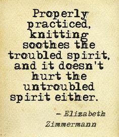 the wise words of Elizabeth Zimmermann