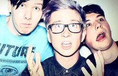 AmazingPhil, Danisnotonfire, and Tyler Oakley.