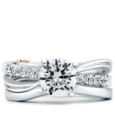Dream Ring Set Surge Engagement Ring With Wedding Band Mark Schneider Design Designer Engagement  C B Designer Engagement Ringsdiamond