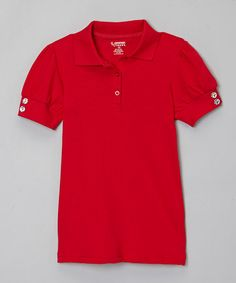 This Red Polo Shirt - Girls by French Toast is perfect! #zulilyfinds uniform