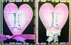 Another 2 cards for my stencil class.  Dreamweaver Stencils, Distress inks, HOTP stamp