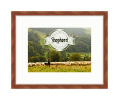The Lord is My Shepherd - Bible Verse Art - Psalm 23:1 by RandomOasis