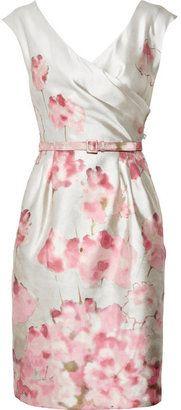 Valentino Floral-print silk and wool-blend dress