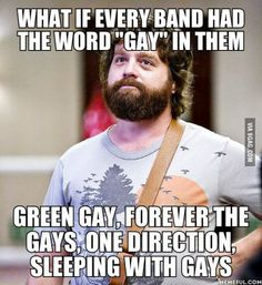"""What if every band had the word """"gay"""" in them"""